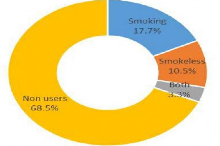 Distribution of Current Tobacco users and Non-users